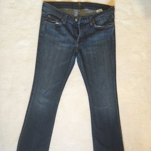 7s For All Mankind Medium Wash Flare
